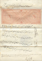 INDIA 1876 Int. Document From Notary Transported As Cover W. Viol. Postmark LOOK - Historical Documents