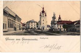 Gruss Aus Eiwanowitz - Stadtplatz - Old Postcard - 1905 - Czech Republic - Used - República Checa