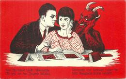 Holidays Christmas KRAMPUS Devil Lovers Couple Lady Crosswords 1920s Fantasy - Autres