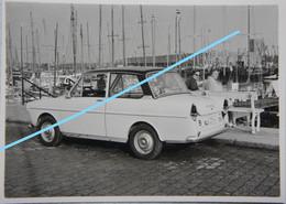 Photo ZEEBRUGGE Bij Knokke Duinbergen Blankenberge Auto Voiture DAF 1965 Port Bateaux De Pêche Visser Pêche - Schiffe