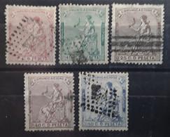 ESPANA ESPAGNE SPAIN 1873, Republica,  5 Timbres  Obl Yvert 131,132,134,135 ,136, TB Cote 37 Euros - Usados