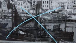 Photo OOSTENDE Port De Pêche Visser Pêcheur Boot Vers 1940 Bateau Ship Kust Vis - Orte