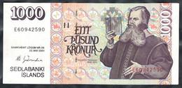 Iceland - 1000 Kronur 2001 - Pick 59(6) - Iceland