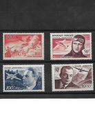 1296 LOT  De 4 Timbres Postes Aériennes YT 19-34-21-22 Neuf * - 1927-1959 Mint/hinged