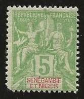Sénégambie Et Niger YT 4 Type Groupe N* 1 Dent Courte - Unused Stamps