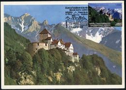 ANDORRA ANDORRE (2020) Carte Maximum Card 25 Anys Relacions Liechtenstein, Castell Vaduz Castle Chateau Castillo Schloss - Andere