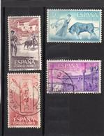 Espagne: Année 1960 :  PA N°278 à 281  Oblitérés - Oblitérés