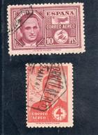 Espagne: Année 1945 :  PA N°231 à 232  Oblitérés - Oblitérés