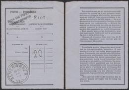 """Déclaration De Versement + Griffe """"Bon De Poste"""" (Bilingue) > Alveringhem - Documents Of Postal Services"""