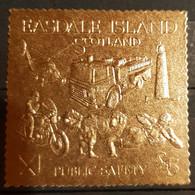 EASDALE ISLAND SCOTLAND PUBLIC SAFETY STAMP GOLD MNH. - Motos