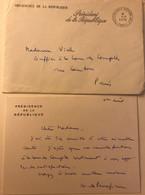 CDV De La Présidence De La Republique - Cour Des Comptes - Signé Guy De Panafieu - Flamme Président Dela République 1978 - Cartoncini Da Visita