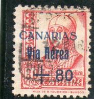 Espagne:  : Année  1936-37 PA N°160 Oblitéré - Oblitérés