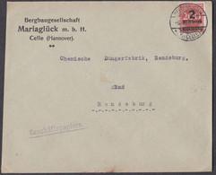 Md_ Deutsches Reich 1923 - Bedarfsbrief Beedenbostel Celle - 6.10.23 - Bergbaugesellschaft Mariaglück - Lettere
