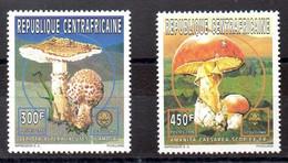 República Centroafricana Series Nº Yvert 1067+1070 ** SETAS (MUSTROOM) - Central African Republic