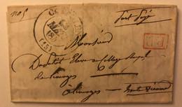 Lettre De 1845 En Port Payé De Confolens (15) Pour Un éleve Au Collège Royal De Limoges - Cachet PP Rouge - 1801-1848: Précurseurs XIX