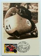 Alano Montanari, Campione D'Italia Su Moto Guzzi 350 C.c. - Motorcycle Sport