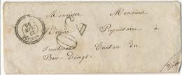 LOIRE LAC 1856 NEULISE TYPE 22 TAXE 30 INDICE 13 COTE 110 EUROS - 1849-1876: Classic Period