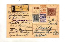 Carte Postale Recommandée Wien  Aigle + Oiseau + Paysan - Stamped Stationery