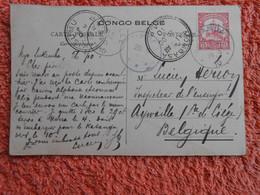 Cpa Congo Belge Timbre Deutsch Ostafrica 1910 Ruanda Via Mombasa Kisumu Bukoba Belgique COURRIER FRONTALIER - 1894-1923 Mols: Cartas