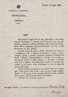 MUNICIPIO DI CIRCELLO-15.LUGLIO.1873-DOCUMENTO STORICO-GRANDINE IMPETUOSA--TRAGICO EVENTO!- - Benevento