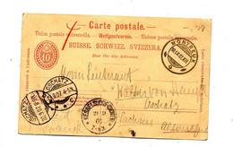 Carte Postale 10 Cachet Montreux Oschatz Kesselforf - Stamped Stationery