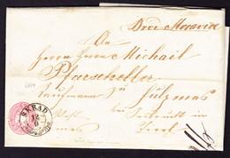 1866 Faltbrief Mit 5 Kr Marke Gestempelt Skrad (Kroatien) Ins Tirol. Stempel: Fiume, Jnnsbruck Vulpmes Und Schönberg - Brieven En Documenten