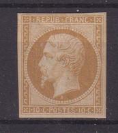 FRANCE : N° 9 C ** . REIMPRESSION . TB . ( CATALOGUE YVERT ) . CERTIFICAT SCHELLER . - 1849-1876: Classic Period