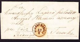 1865 Faltbrief Aus Kiraly-Darocz Nach Teeske Mit 15 Kr Marke. Ungarn - Brieven En Documenten