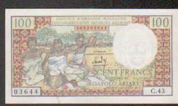Madagascar, Billet De 100 Francs - Madagascar