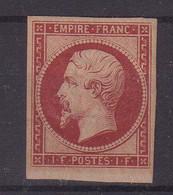 FRANCE : N° 18 D * . TB . 1862 . ( CATALOGUE YVERT ) . CERTIFICAT SCHELLER . - 1849-1876: Classic Period