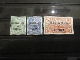 Wallis-et-Futuna - N°40 à 42 - Neuf ** - Unclassified
