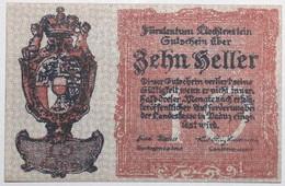 Liechstenstein - 10 Heller - 1920 - PICK 1 - SPL - Liechtenstein