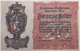 Liechstenstein - 20 Heller - 1920 - PICK 2 - SPL - Liechtenstein