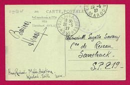 """Écrit Sur Carte Postale Daté De 1927 - Occupation Alliée - Oblitération """"Poste Aux Armées - Secteur Postal 219"""" - Zona Francesa"""