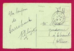 """Écrit Sur Carte Postale Daté De 1926 - Occupation Alliée - Oblitération """"Poste Aux Armées - Secteur Postal 219"""" - Zona Francesa"""
