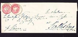 Um 1865 Faltbrief Mit 2  5 Kr Marken, Gestempelt Ürmeny Nach Kalksburg. - Brieven En Documenten