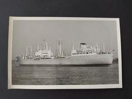 Carte Photo Bateau De La Marine Marchande - Cargo Le SAINT LUC (Dunkerque) 1959 - Koopvaardij