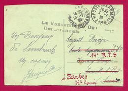 """Écrit Sur Carte Postale Daté De 1930 - Occupation Alliée - Oblitération """"Poste Aux Armées - Secteur Postal 219"""" - Zona Francesa"""