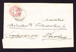 1867 Faltbrief Mit 5 Kr Marke Gestempelt Bücs Nach Pressburg - Brieven En Documenten
