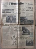 Journal L'Humanité (6 Septembre 1957) Convocation Assemblée - Loi Cadre - Hagondange - Decazeville - 1950 - Nu