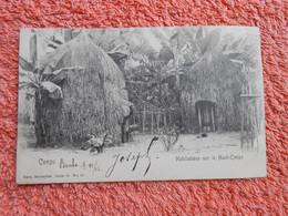 Cpa Congo Belge Habitation Haut Congo 1906 - Congo Belga - Otros