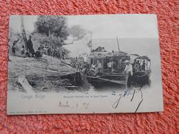 Cpa Congo Belge Steamer Hainaut Cachet Bleu 1906 - Congo Belga - Otros