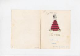 Menu - Huwelijk / Mariage - Angèle / Jean - Hasselt - 1960 - Menu In Versvorm - Menus
