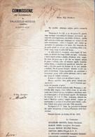 COMMISSIONE PEI DANNEGGIATI DI PALAZZOLO -ACREIDE-24-OTT-1872-DOCUMENTO STORICO-TROMBA TURBINOSA...-TRAGICO EVENTO!- - Siracusa