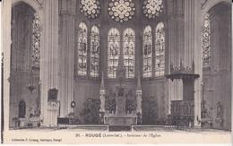 Rougé Intérieur De L église éditeur F Létang Horloger N°31 - Altri Comuni