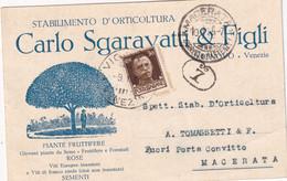 ITALIE 1935 CARTE  PUBLICITAIRE DE VENEZIA - Storia Postale