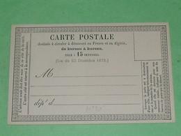 ENTIERS POSTAUX  / TC23 / CPO / Carte Postale Précurseur N° :10   Superbe - Cartes Précurseurs