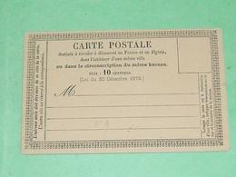 ENTIERS POSTAUX  / TC23 / CPO / Carte Postale Précurseur N° : 9    Superbe - Cartes Précurseurs