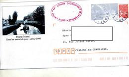 Pap Luquet  Cachet Pogny Illustré Canal - Prêts-à-poster:Overprinting/Luquet