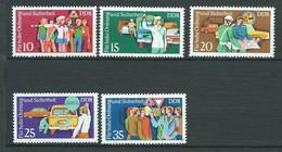 Allemagne  -  DDR -   Série Yvert N°  1758  /  1762  **   5 Valeurs Neuves Sans Charnière Pal  2306 - Unused Stamps
